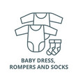 badress rompers and socks line icon vector image vector image