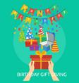 birthday gift gving conceptual design vector image
