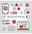 blockchain vector image vector image