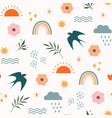 bohemian summer abstract seamless pattern vector image vector image