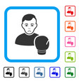 boxing sportsman framed sad icon vector image vector image