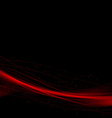 Bright red speed swoosh abstract lines background vector image vector image
