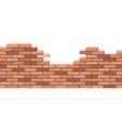 broken brick wall 3d isometric view red brick