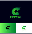 c letter arrow course logo logistic delivery vector image