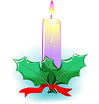 candle light and leaf vector image