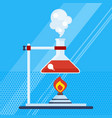 chemical laboratory with burner vector image