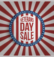 circle banner with veterans day sale text vector image vector image