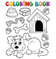 coloring book dog theme 2 vector image