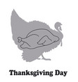 comic thanksgiving day card with a picture of a vector image vector image