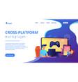 cross-platform play concept landing page vector image vector image