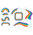 different shapes of rainbow vector image