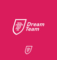 dream team logo business team emblem d t vector image vector image