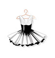 dress with a lush skirt on the hanger vector image vector image