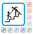 education steps framed icon vector image