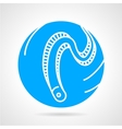 Eel abstract round icon vector image vector image