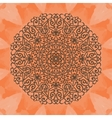 Elegant mandala-like pattern on red seamless vector image vector image