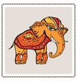 Elephant Indian style vector image vector image