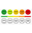 emotions with smiles vector image vector image
