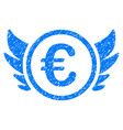 euro angel investment icon grunge watermark vector image vector image