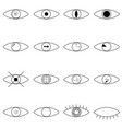 eye line icon human organ of sight in different vector image