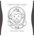 Fire Monkey Five Black vector image vector image