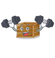 fitness crate character cartoon style vector image vector image