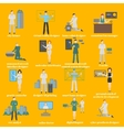 Future professions set Futuristic occupation vector image