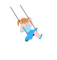 girl swinging on a swing vector image