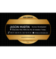 Golden creative business card vector image vector image