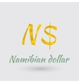 Golden Symbol of the Namibian dollar vector image vector image