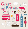 Great Britain set vector image vector image