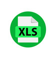 green icon xls file format extensions icon vector image vector image