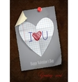 Greeting Card Design Template Happy Valentines vector image