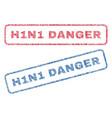 h1n1 danger textile stamps vector image vector image