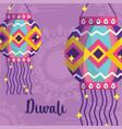 happy diwali festival mandala background vector image vector image