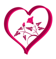 heart with flowers vector image