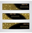 Horizontal Black and Gold Banners Set vector image vector image