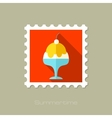 Ice Cream flat stamp with long shadow vector image vector image