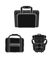 isolated object of suitcase and baggage sign set vector image