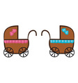 Isolated Stroller vector image