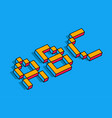 isometric abc letters abc 3d background vector image