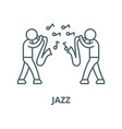 jazz line icon linear concept outline vector image vector image