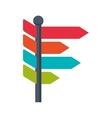 label road sign multicolored arrow icon vector image