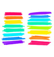 lanes drawn with colored markers vector image vector image