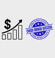 line profit up trend chart icon and vector image vector image