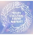 Merry Christmas and New Year with vector image vector image
