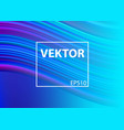 modern colorful flow poster liquid shape in blue vector image vector image