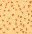 monochrome orange line art cocoa pods and cocoa vector image vector image
