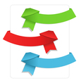 origami ribbons vector image vector image