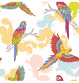 Parrot seamless grunge vector image vector image